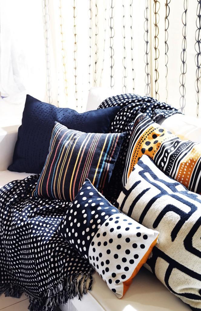 Moderní jsou potahy s geometrickými obrazci. (Foto: Ikea)
