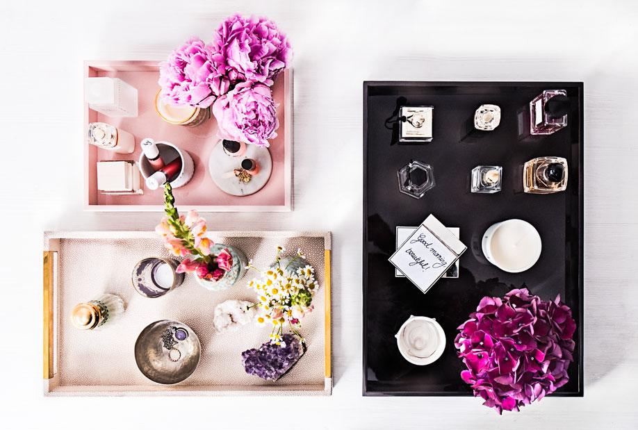 dekorace z parfémů