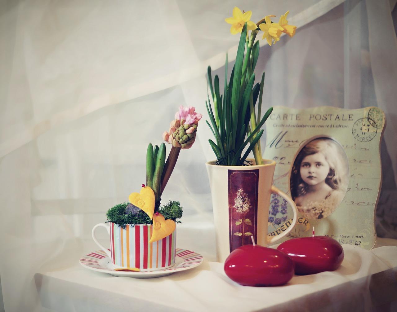 Nemusíte kupovat drahé květináče, postačí i starší nepoužívaná hrneček a úžasná svěží dekorace je na světě.