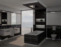 Minimalistická černá pro koupelny