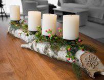 Krásné vánoční dekorace z břízy